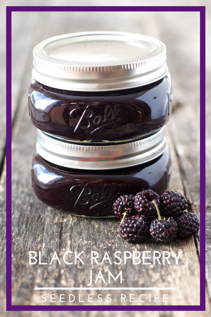 This is thebest homemade seedless black raspberry jam recipemade with fresh or frozen black raspberries. There is also alow sugar recipe optionfor thissmall batch black raspberry jam that is equally as delicious. #jam #canningrecipe #blackraspberry #jamrecipe #seedlessjam #stgrecipes