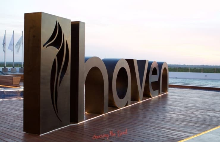 Haven Riviera Cancun welcome sign