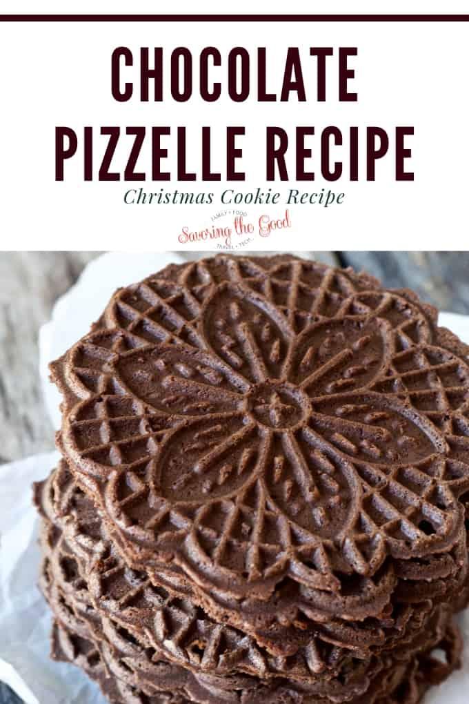 chocolate pizzelle recipe  chocolate italian cookie  savoring the good