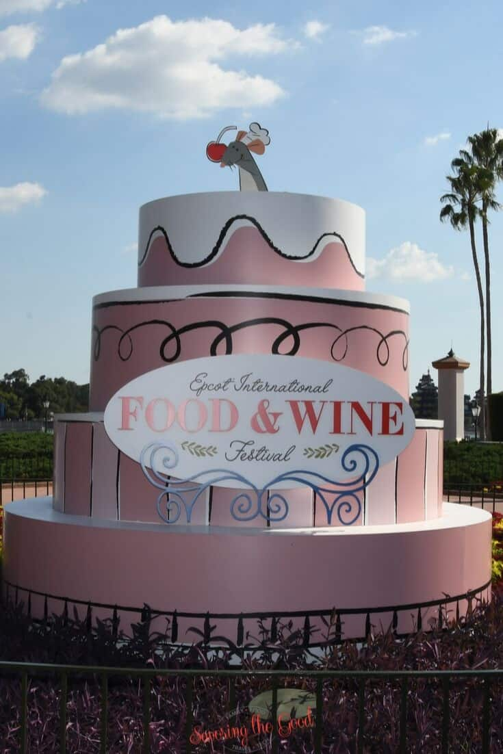 photo cake at Epcot food and wine festival