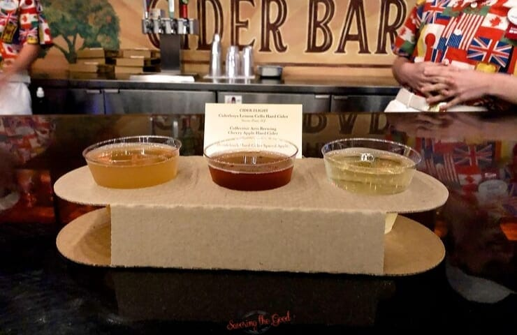 Epcot food and wine festival cider flight