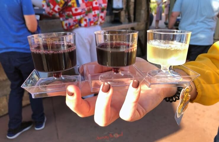 Epcot food and wine festival wine flight