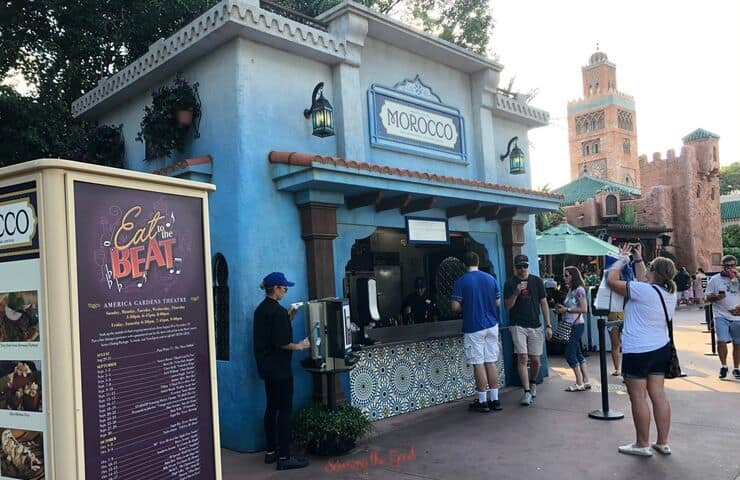 Morocco food booth at Epcot food and wine festival