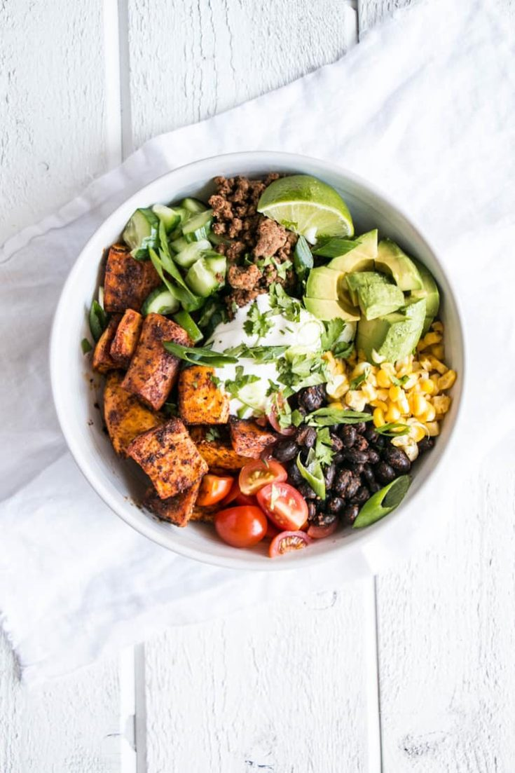 Sweet Potato Taco Bowl - My Kitchen Love