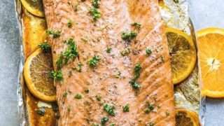 Orange Sesame Salmon Baked in Foil