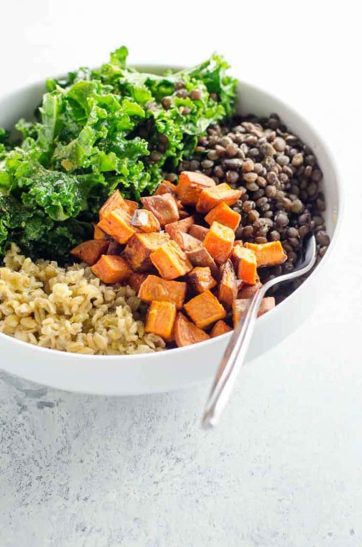 Sweet Potato Buddha Bowls in 30 Minutes