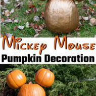 Mickey Mouse Pumpkin Decoration