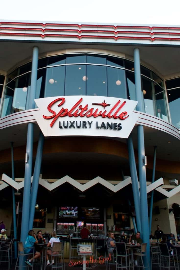 Splitsville Orlando. Sushi, Pizza, Cocktails and Bowling!