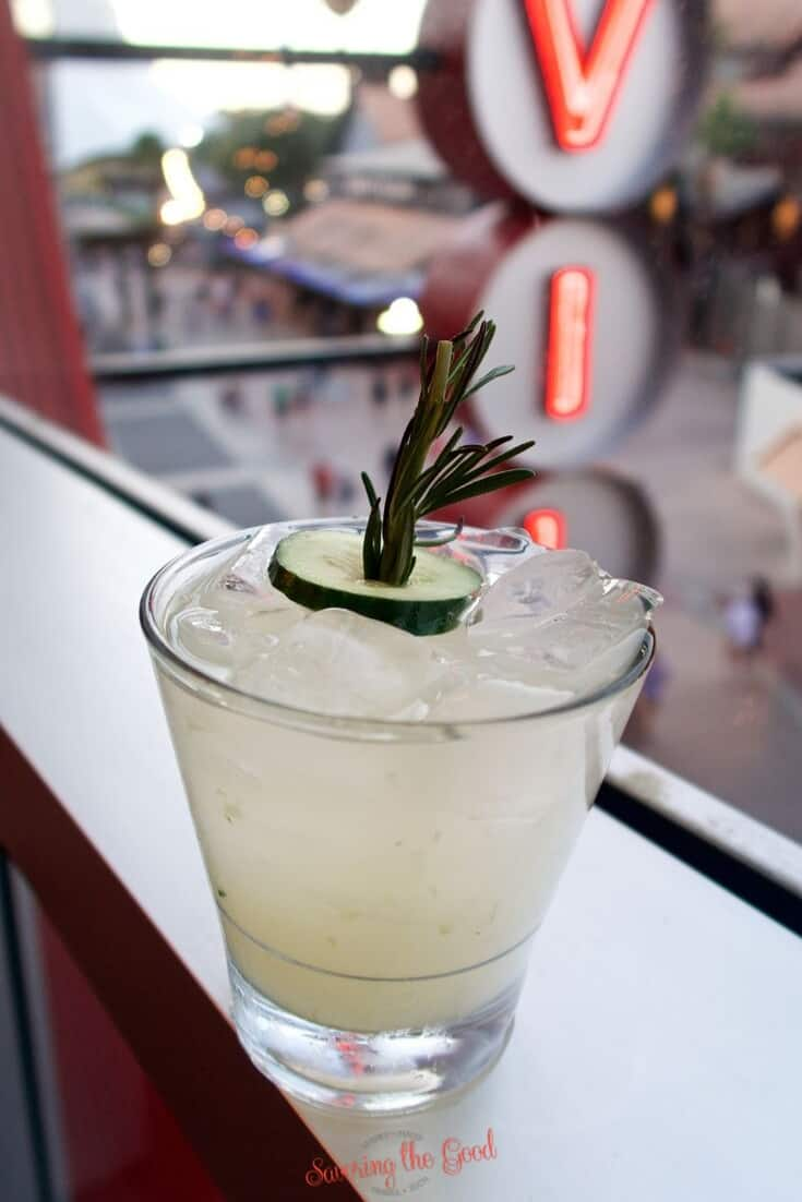 cucumber spritzer at Splitsville Orlando