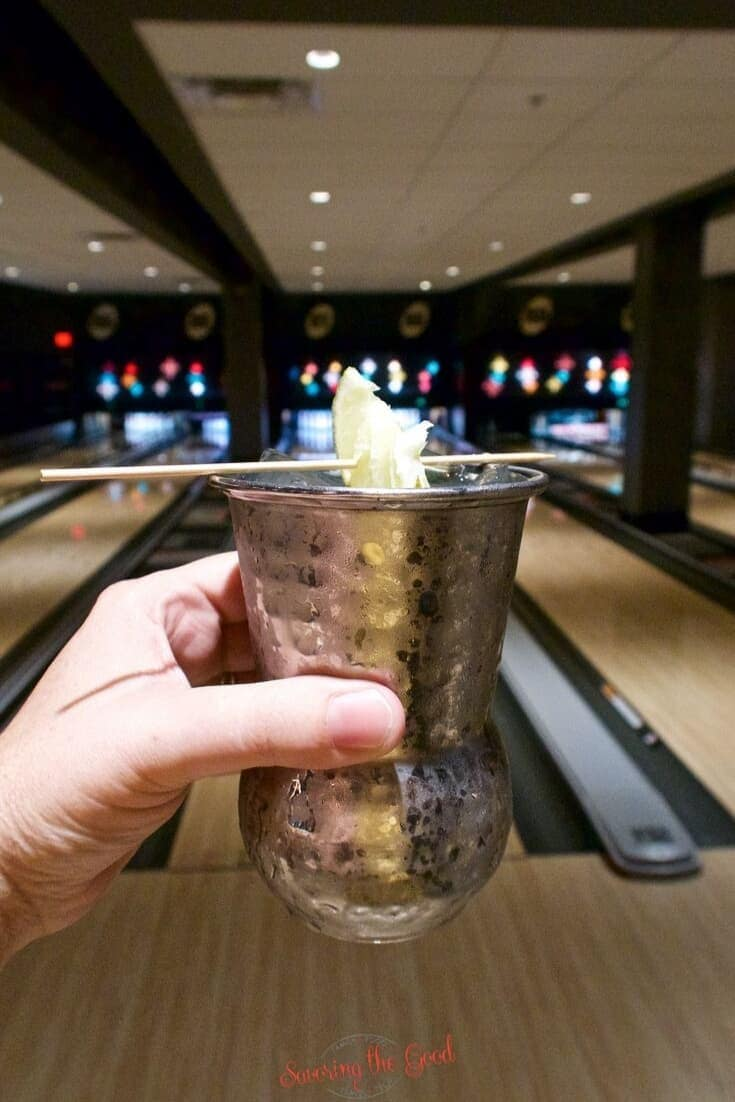 moscow mule at Splitsville Orlando