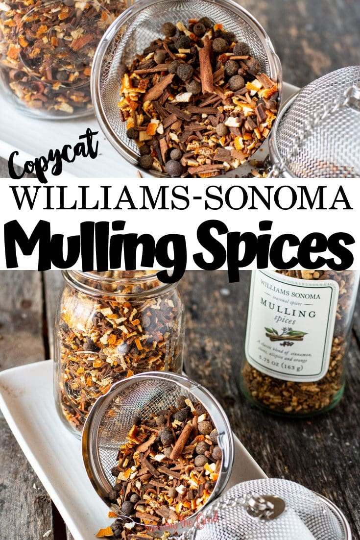The William Sonoma mulling spices make the most delicious mulled cider. These DIY homemade holiday mulling spices are a great gift idea for hostess gifts, teacher gifts, or just keeping on hand to spice up cider and wine during the winter season.
