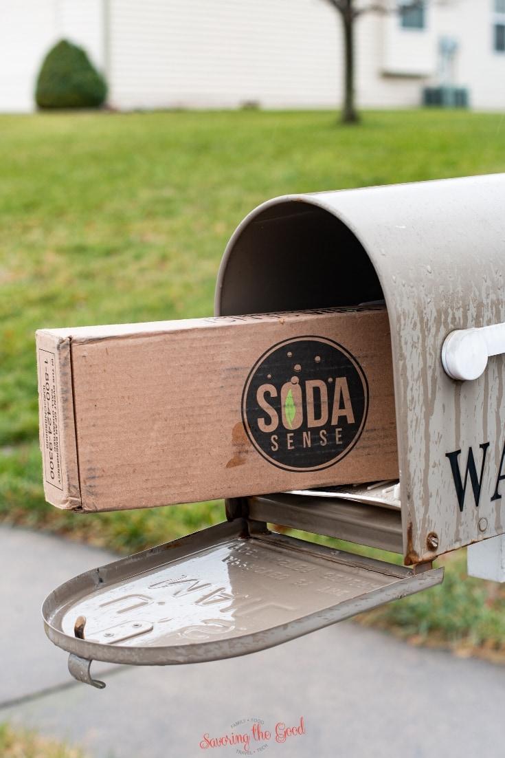 soda sense box in a mailbox