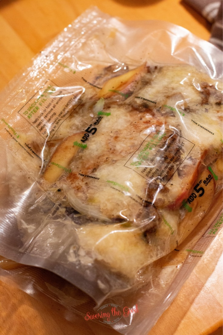sous vide pork and sauerkraut in a bag