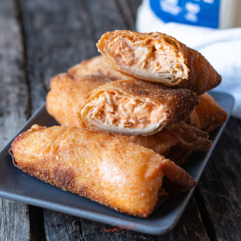 Buffalo Chicken Dip Egg Rolls
