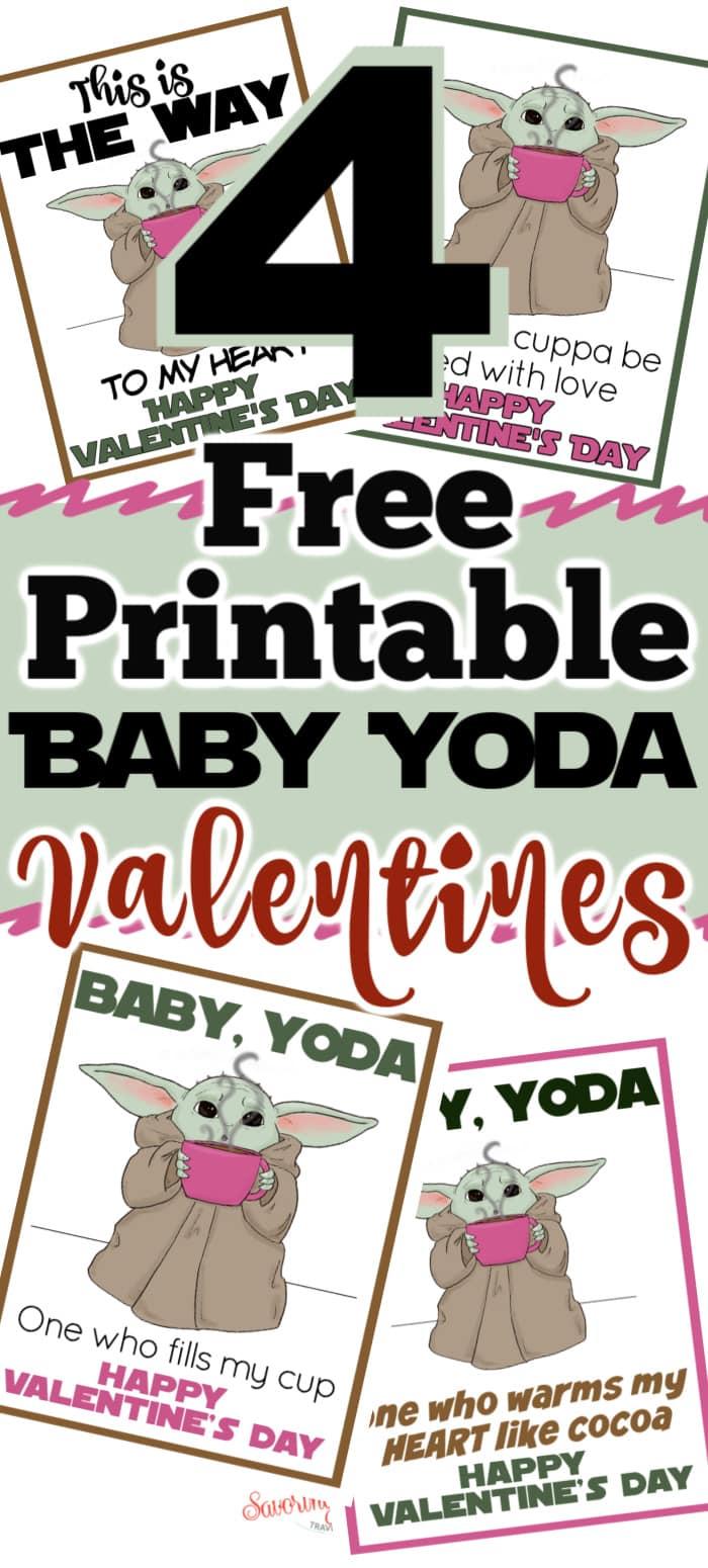 4 Free Baby Yoda Valentine Printable