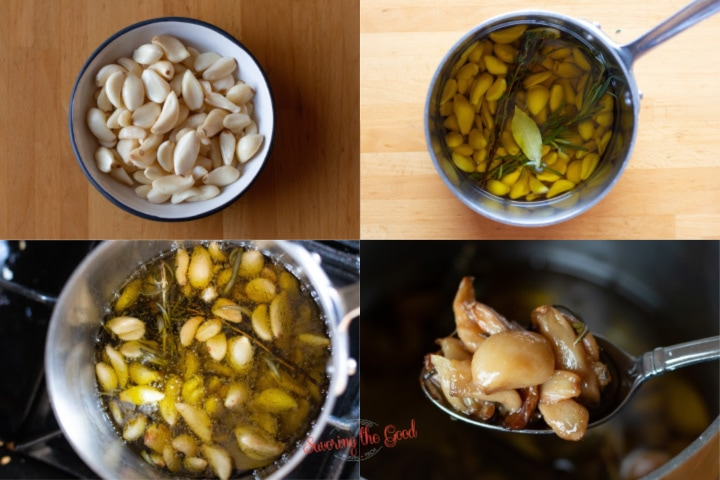 step by step photos on how to make garlic confit