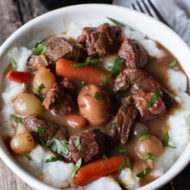Sous Vide Guinness Beef Stew Recipe