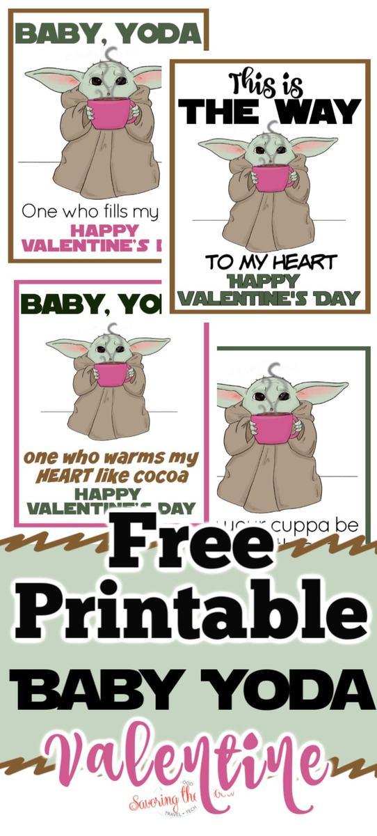 baby yoda valentine printable pinterest image