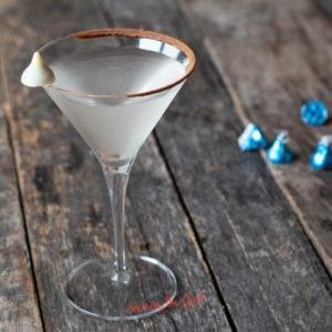 horizontal image of chocolate martini