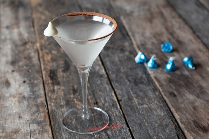 horizontal image of chocolate martini