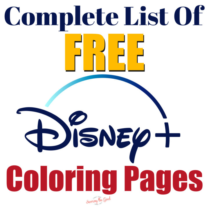 Disney plus coloring pages graphic