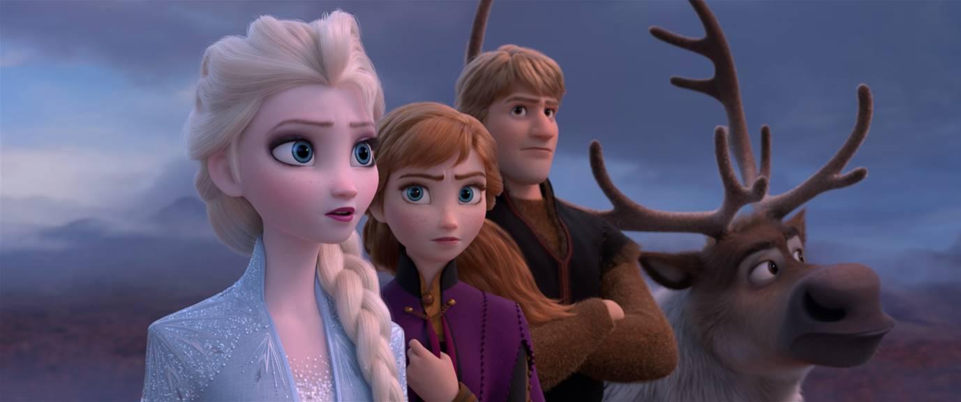 Esla, Anna, Christoph, Spehen from Frozen 2, still frame