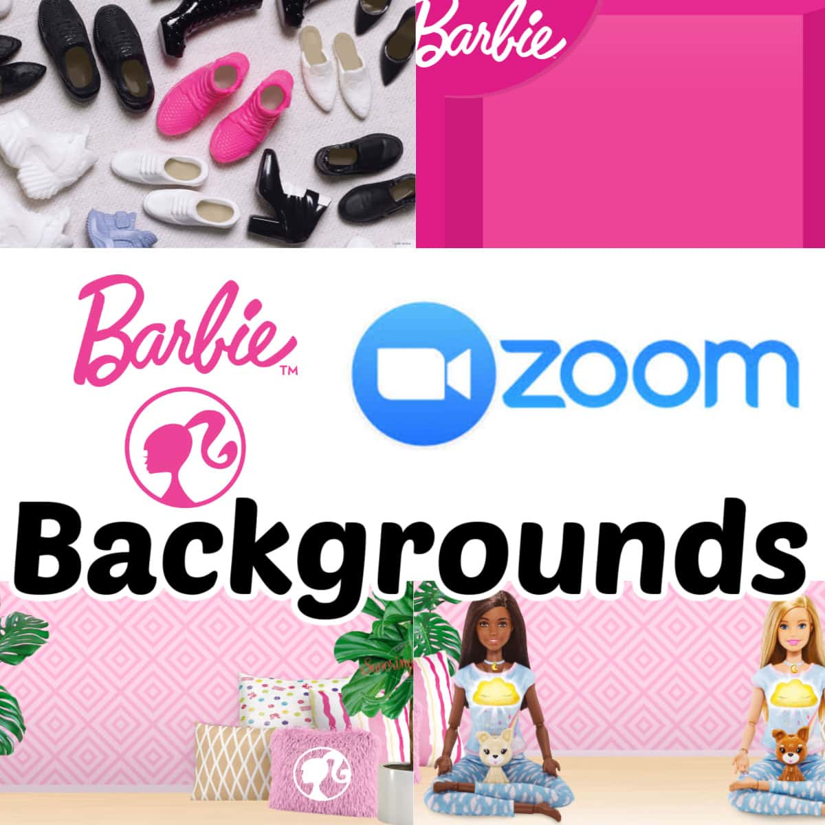 Barbie Zoom Backgrounds