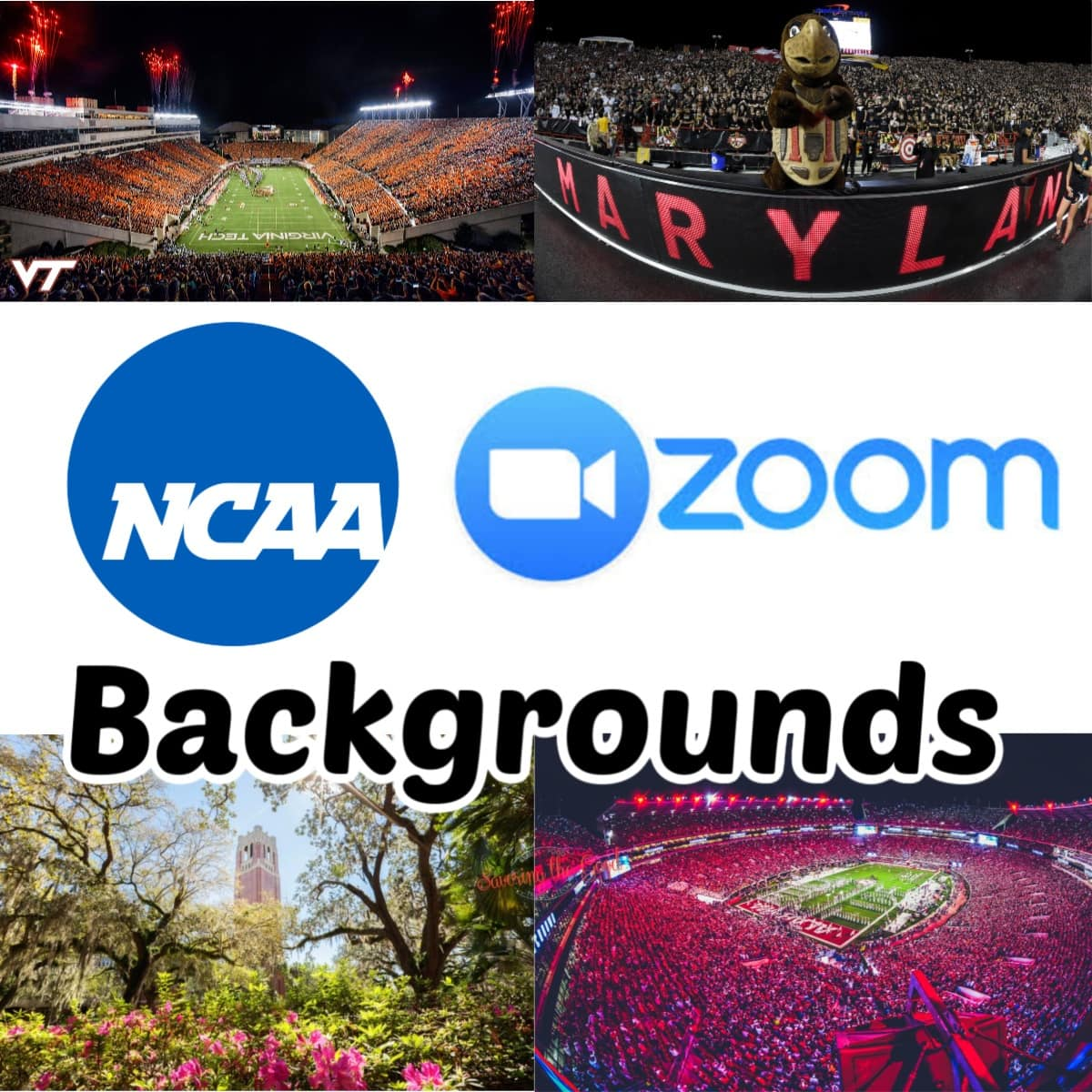 College Sports Teams Backgrounds graphic