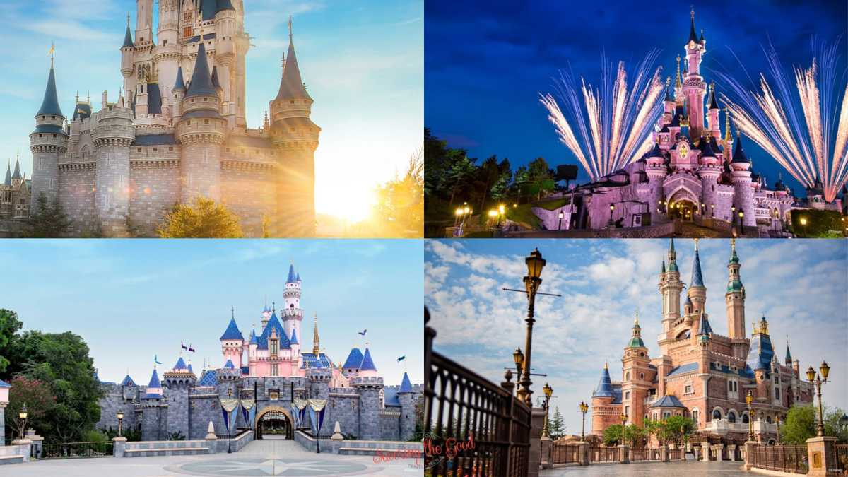 Disney Castle Zoom Backgrounds 4 examples