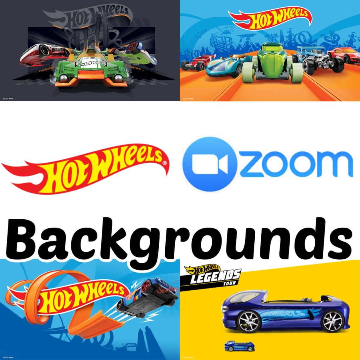 Hot Wheels Zoom Backgrounds graphic
