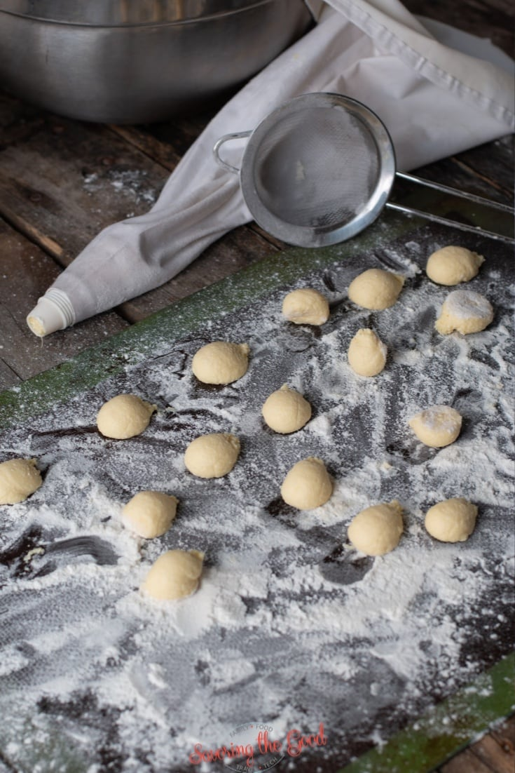 How to pipe out gnudi dumplings