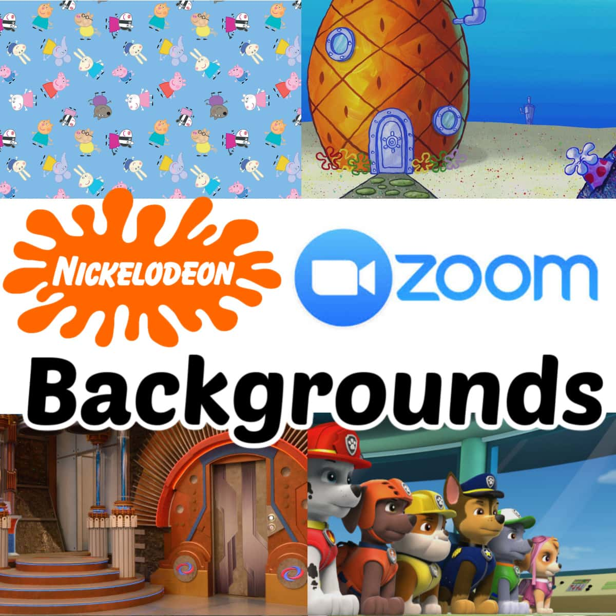 Nickelodeon Wall Papers for Zoom and Microsoft Teams graphic