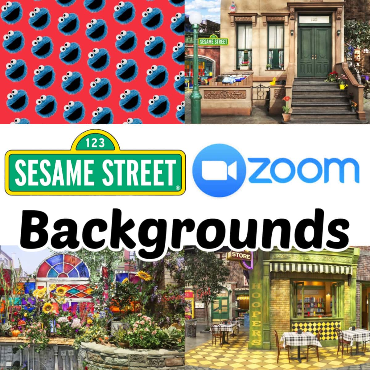 Sesame Street Backgrounds for zoom graphic