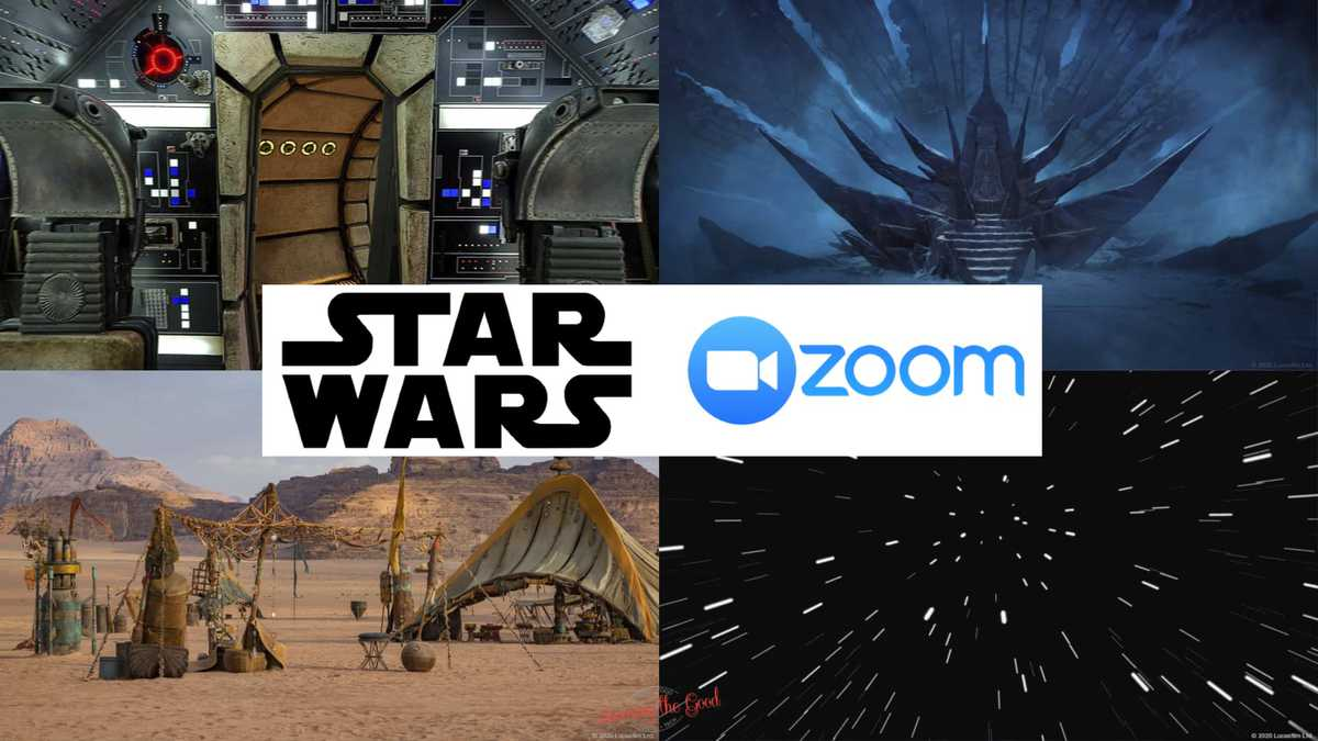 Star Wars Zoom Backgrounds Savoring The Good
