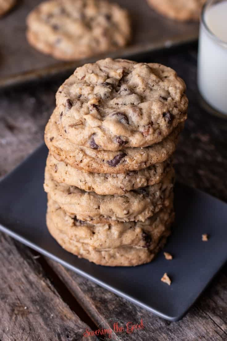 doubletree cookies stacked