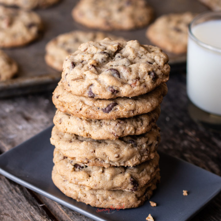 doubletree cookies in a stack