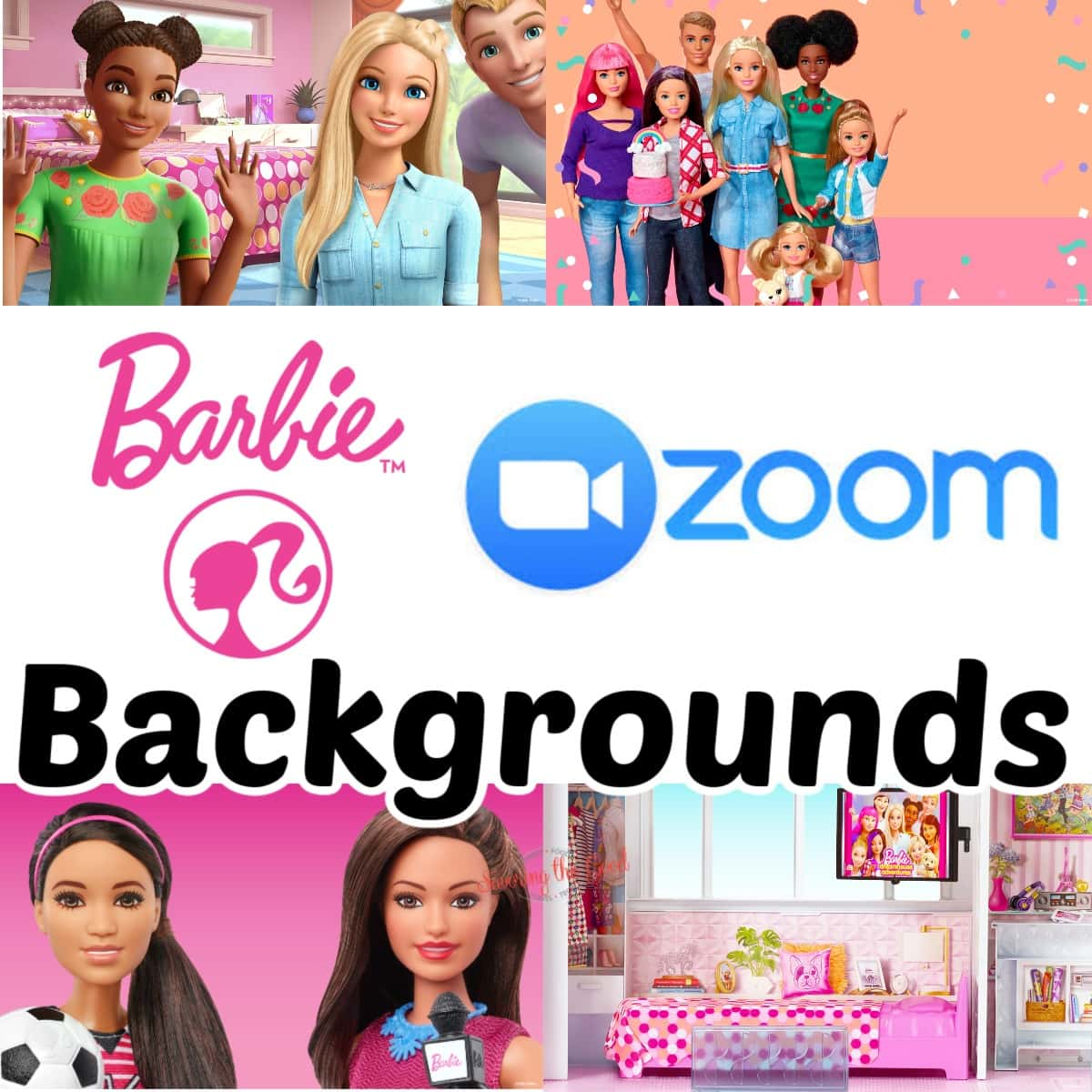 more Barbie Zoom Backgrounds