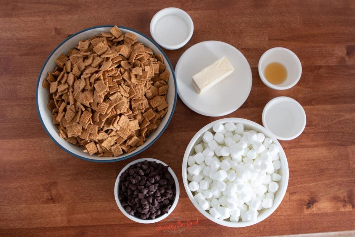 Golden Graham s'Mores ingredients