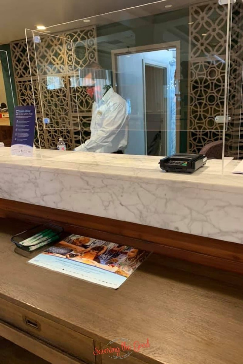 Wyndham Garden Lake Hotel check in desk