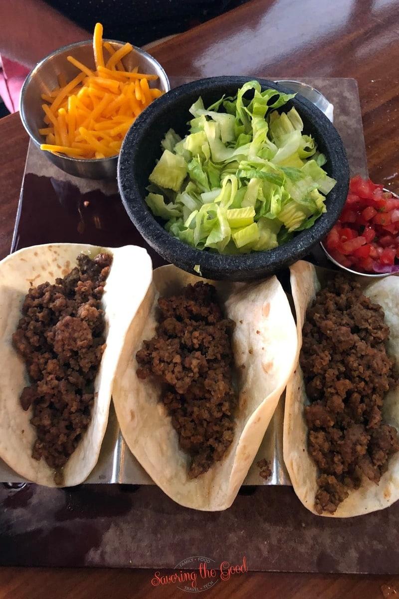 kids beef tacos at paradiso 37