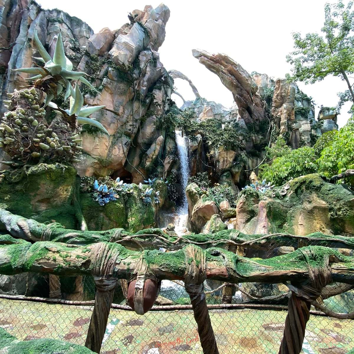 Pandora The World of Avatar waterfall wallpaper background for Microsoft Teams