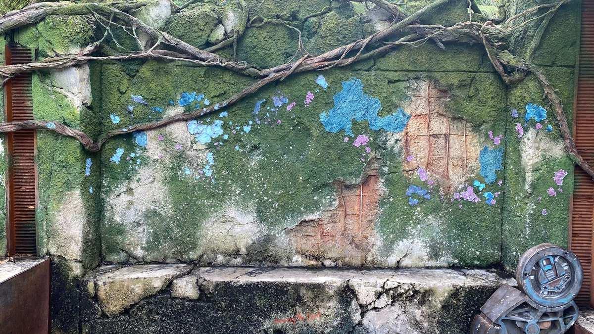 Pandora World of Avatar, bioluminescent wall and bench wallpaper
