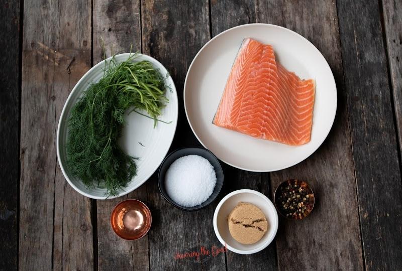 Salmon Lox Recipe ingredients