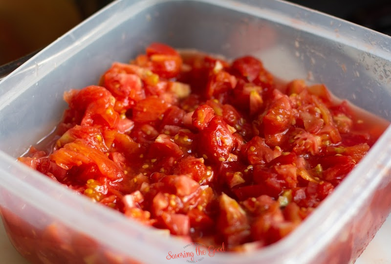 diced romatoes before canning diced tomatoes