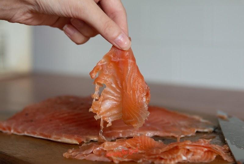 piece of Salmon Lox
