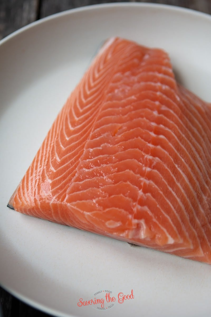 side of salmon 1 lb on a plate