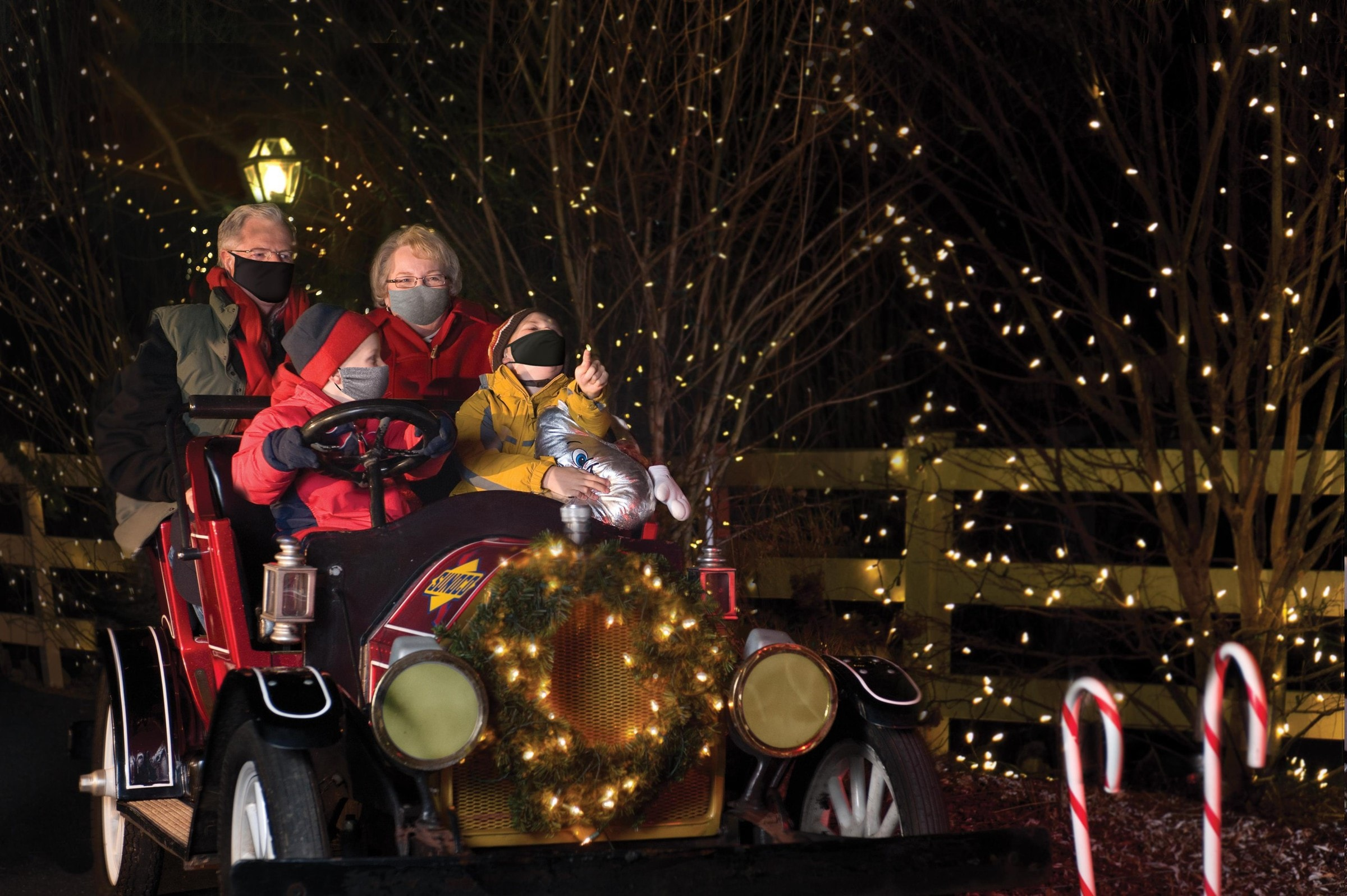 Christmas Candylane - Antique Car Ride