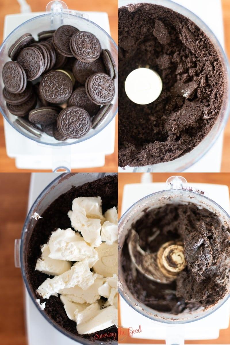 steps to make oreo truffle balls
