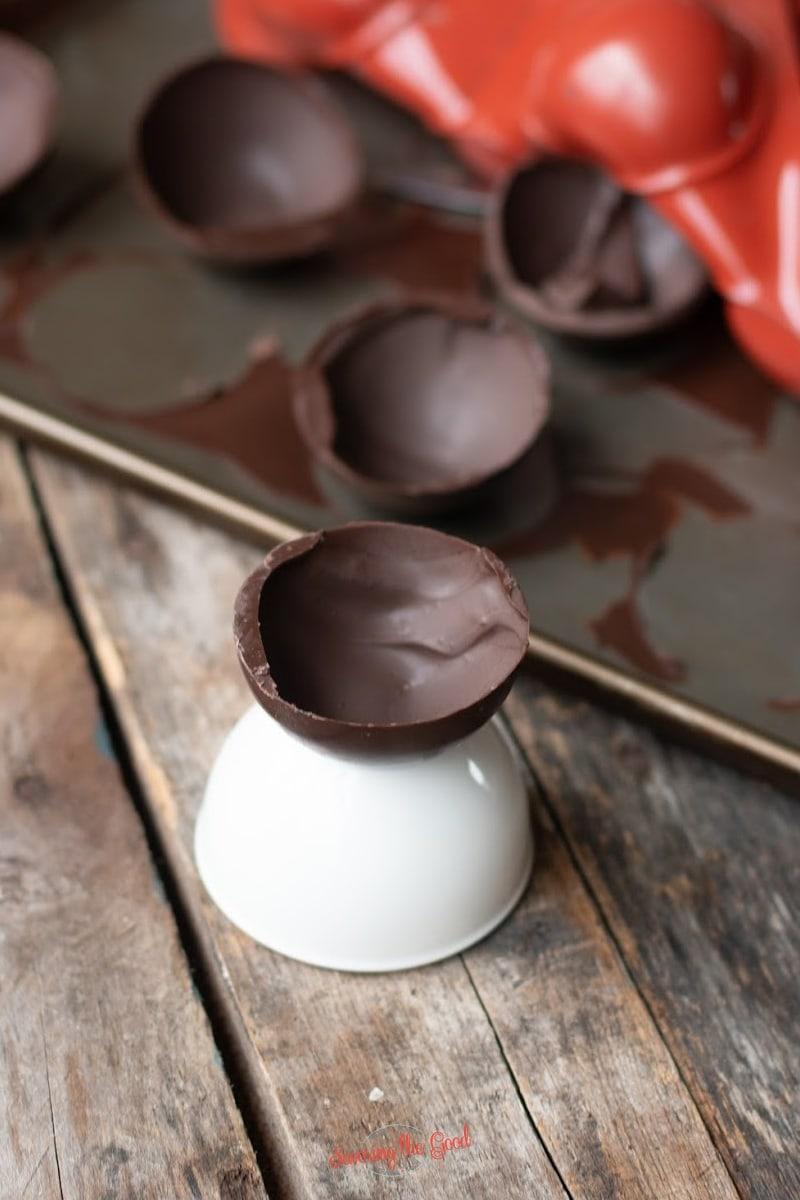empty hot chocolate bomb shell