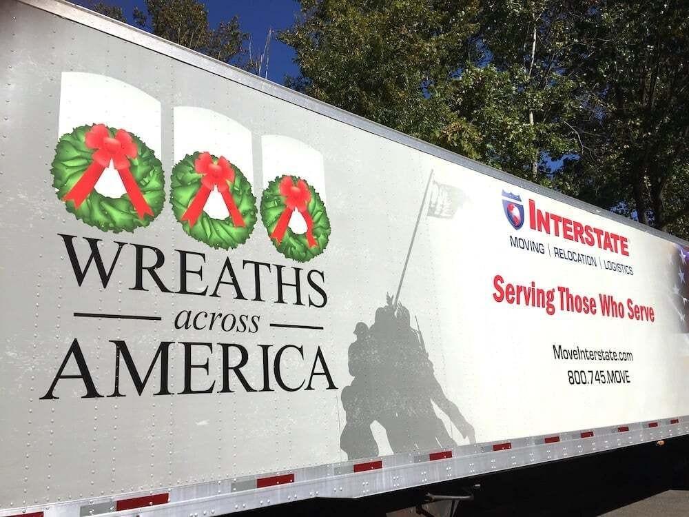 wreaths across america trailer with logos